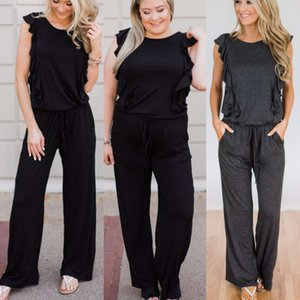 edge 2019 new Ruffle hot selling fat mm Jumpsuit Ladies' favorite trendy fashion high-end atmosphere top grade Pictures are real shots