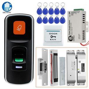 RFID Biométrique Digital Access Control Control System Kit + Magnétique électrique / Strike / Boulon + Bouton de sortie + Alimentation + 10KeyFobs1