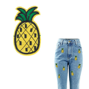 Embroidery Patch Pineapple Cloth Patches for Jeans All-Match Patch Stickers DIY Heat Transfer Iron-on Appliques 5 Pieces