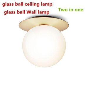 Modern Round Glass Ball Ceiling Lamp Creative LED Wall Lights For Aisle Corridor Lights Bedroom Bedside Decora Ceiling