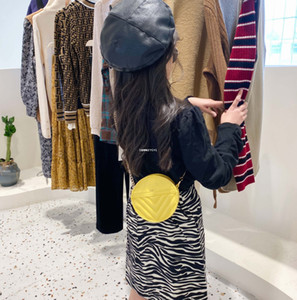 소녀 원형 지갑 어린이 금속 체인 메신저 가방 키즈 원 - 어깨 가방 레이디 스타일 미니 지갑 A5604