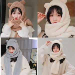 Novo Couro Cute Shawls Imprimir Lenço Longo Quente Venda Bonito Animal Soft Envoltório Scarf Lenço Pingente Set Little Bear Hijab # 129