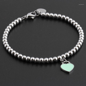 2019 Hot Titanium Steel Bracelets classic Jewelry Heart Bracelet For Women Charm beads Bracelet pulseiras Jewelry1