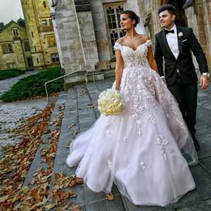 2021 Western Country Wedding Dresses Lace Off the Shoulder Half Sleeves Bohemian Long Bridal Gowns Plus Size Wedding Gowns