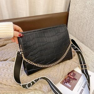 2020 winter new stone pattern shoulder bag chain handbag lady messenger bag leisure big daily travel shopping women