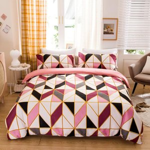 WUJIE Geometric Pattern Duvet Cover Set Comforter Set Twin Full Queen King Size Bedding Bedclothes Pillowcase Home Textile