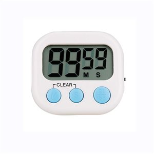 2020 New Ultra-thin Lcd Digital Screen Kitchen Timer Square Cooking Countdown Countdown Alarm Sleep Stopwatch Thermometer Clock