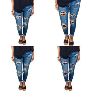EH · furo MD® Jeans rasgados Mulheres Sazonal Slim Fit Foring Imprimir Decoração de Abóbora de Halloween Estique alto Cintura Algodão Grande Tamanho Y1214