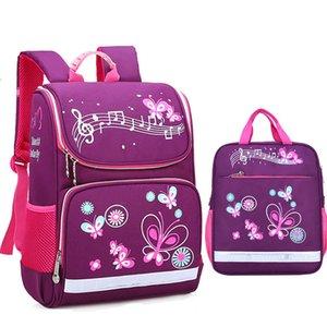 Bambini Borse per la scuola Set per ragazze Boys Boys Orthopedic Backpack Cartoon Butterfly Car School Bag Kids Satchel Knaplack Mochila LJ200917