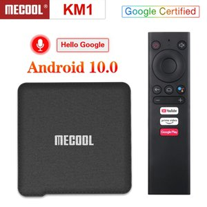 MECOOL KM1 Android 10.0 TV Box 2GB 16GB Amlogic S905X3 2.4G 5G WiFi BT4.2 Voice Control Google Certified TV box