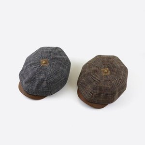 New Tweed Newsboy Cap Men Women Herringbone Mens Hat Wool Blend Apple Caps Eight Panel Cabbie Hats Gorras