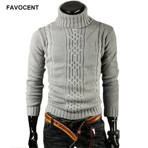 Favocent Homme Pull Pullover Hommes 2018 Male Brand Casual Slim Sweaters Hommes Solide Vapelle Haut Jacquard Hommes Pulls Hommes XXL T200506
