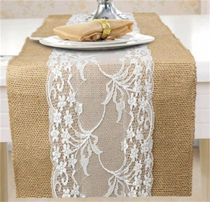Retro European Tablecloth Fabric Linen Middle Lace Ribbon Table Runner Decorate Kitchen Dining Home Party Hotel Retro European Table 16mb M2