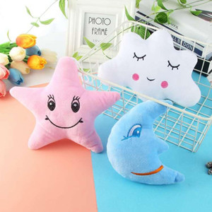 Stuffed Moon Star Cloud Soft Plush Toys Car Home Decor Gifts Children Baby Room Decorations Party Decoration EEA426