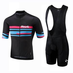Morvelo Takımı 2020 Erkekler Bisiklet Jersey Önlüğü Şort Takım Yaz Hızlı Kuru Kısa Kollu Bisiklet Kıyafetler Yol Bisikleti Üniforma Spor Y122704