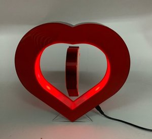 10pcs dhl free shipping led light heart shape magnetic levitation floating pop photo frame picture display stands