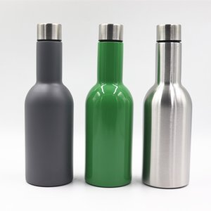 500ml Insulation Water Bottles Stainless Steel Cooler Large Cover Cup Double Deck Travelling Vacuum Tumbler Hot Sale 23sx E1