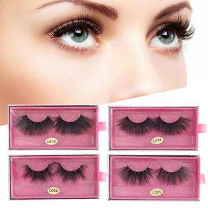 5D 25mm False Eyelashes Makeup Fake Eyelashes Fluffy Curling Long False Lashes Professional Comestic Makeup Tool for Beginners