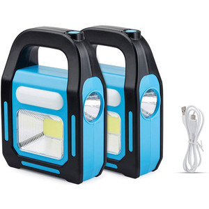 3 IN 1 Solar USB Rechargeable Brightest COB LED Camping Lantern, Charging for Device, Waterproof Emergency Flashlight LED Light for Camping