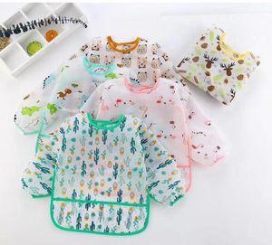 Baby Bibs Cartoon Print Burp Clothes Feeding Bib Anti-Dirty Waterproof Saliva Towel Cute Detachable Infant Bib Home supplies SN3540