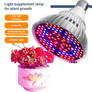 LED Grow Light Full Spectrum 30W / 50W / 80W E27 светодиодные лампы Растущий для Indoor Гидропоника Цветы растений светодиодные лампы роста