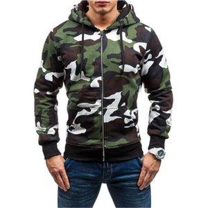 Man Zipper Camouflage Hoodies Fashion Trend Long Sleeve Mens Hooded Sweatshirts Designer Male Autumn New Casual Loose With Pocket Hoodies
