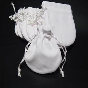 Borse di sacchetti di gioielli Borse Bianco Velvet per Pandora 925 Sterling Sterling Charm Bracciale Bracciale Bracciale Bracciale