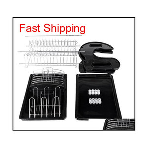 Us Shipping New Kitchen Storage Box Multi-function Double Dish Chopsticks And Spoon Collection Rack Di qylEaK yh_pack