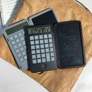 6 inç Taşınabilir Katlanabilir 2 in 1 Çok İşlevli Şarj Edilebilir 120 mAh Calculator LCD Yazı Kurulu El Yazısı Ile Not Defteri