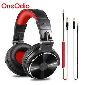 OneODIO DJ Wired Over-Eaut Hardset с микрофоном HIFI студия DJ наушники профессиональный стерео монитор складные наушники Y1128