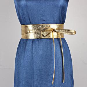 KWD مصمم أحزمة عالية الجودة المرأة أزياء 2021 السيدات واسعة بو الجلود cummerbunds القوس التعادل المشبك الخصر حزام عارضة ceinture