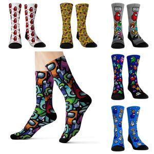 Tra i calzini statunitensi 3D Adolescenti per adulti Donne Donne Compressione Medium Ginocchio di Natale Alto Calze di Natale Xmas Amone US Peluche Calze