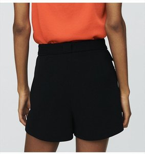 Women Short 2019 Spring and Summer New Palm Tree Fashion A line Shorts with Straight Casual Pants