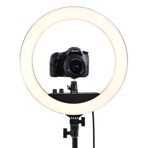 FOSOTO RL-18II Photographic Lighting 18 Inch Ring light 512Pcs Led RingLight Lamp With Tripod For Camera Phone Makeup Youtube