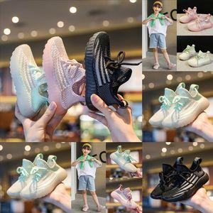 Fut Shoes Girls Boys Shoe Shoes Sport Air Mesh Children Transpirable con Banda Elástica Olors Niño Casual Plomo
