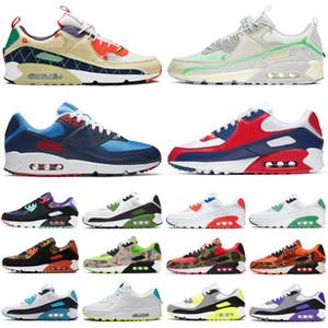 Nike hava max airmax 90 ördek camo 90 s erkekler kadınlar koşu ayakkabı üçlü siyah beyaz açık erkek bayan eğitmenler spor sneakers koşucular