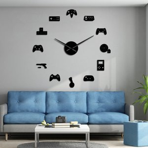 Game Controller Video DIY Giant Wall Clock Game Joysticks Stickers Gamer Wall Art Video Gaming Signs Boy Bedroom Game Room Decor Q1124