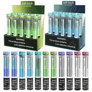 Bar Air Bar LUX Vape Vape Pen 1000 Puffs 1000 Pubattery 2.7ml Vainas de Airbar Dispositivo de vapor relleno pre-lleno E Kit de vaporizador portátil de cigarrillo