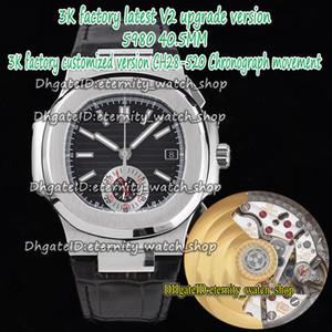 ÉTERNITY 3KF V2 Version Version CH28-520C Chronographe Automatique Cadran noir Automatique Cas d'acier brossé 5980 Montres Hommes Sangle Sport Sport Montres P2