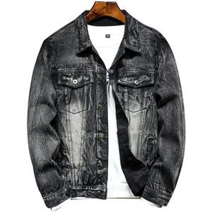 Fashion Men Wash Denim Jeans Shirt 2021 Autumn Long Sleeves Shirt Casual Slim Fit Denim Tops High Quality EU