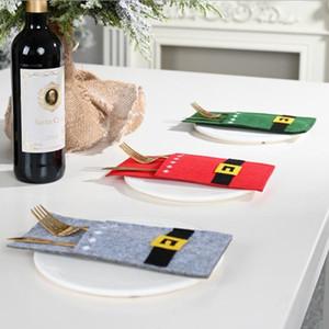 Borsa da deposito di stoviglie coltello e forchetta decoraggio borse decorazioni natalizie decorazione della festa di Natale decorazione ornamenti forniture per feste GWC4519