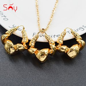 Sunny Jewelry Fashion Jewelry Copper Jewelry Sets For Women New Design Necklace Earrings Pendant High Quality For Wedding 201123