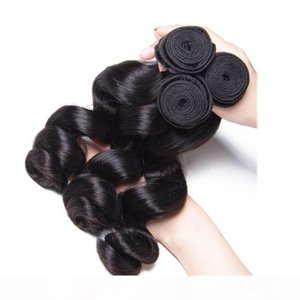 TKWIG 8a 3pcs pack brazilian loose wave virgin human hair lace front with baby hair under 50