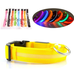 Adjustable LED Dog Flashing Collar USB Rechargeable Pet Glowing Collar Necklace Outdoor Night Safety Walking Dog Accessories