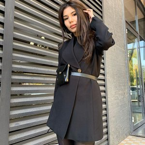 2020 Europe And America New Hot Selling Women Clothing Solid Color Single Breasted Suit Fashion Top Dress