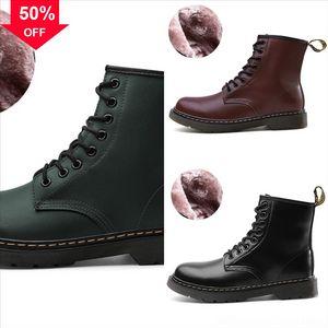 Otoño de invierno NewDoc Tobillo Enuine Cuero Lujo Classic Fashion Dr Designer Shoes BrandwInterbootBoots Bootsshoes m