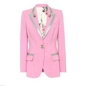 1112 2020 LIVRAISON GRATUITE AUTOMME A LIGNE MANCHE À manches longues manteau manteau Pink Bouton Pink Fashion Fla Flora Imprimer Imprimer Imprimer Même style N