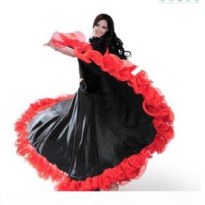 Spanish Bullfight Festival Performance Dance Flamenco Skirt for Women Highq Quality Flame Floral Plus Size Ballroom Women Skirt
