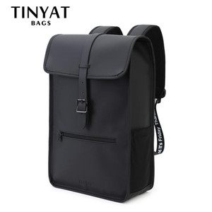 Sac à dos en cuir pour homme Tinyat Homme Mens sac à dos pour ordinateur portable pour sac à dos d'épaule de 14 pouces décontracté sac à dos mâle Bagpack Travel Mochila