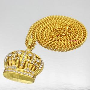 Gold Necklace Set Hip Hop Accessories Fashion Crown Pendant Necklace